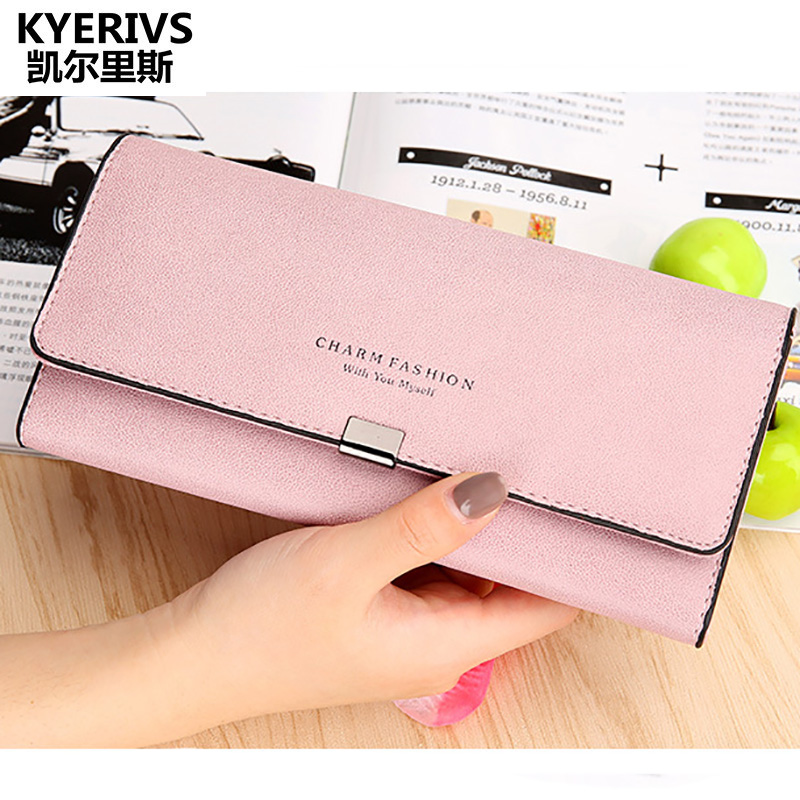 Women Wallets Fashion New Design Quality Pu Leather Wallet Women Long Clutch Purses Lady Vintage Clutch Bag Coin Purse Women