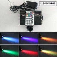 RGBW 16 W светодиодный световой двигатель для звездных волоконно-оптических световых комплектов с 28key RF пультом дистанционного управления ...