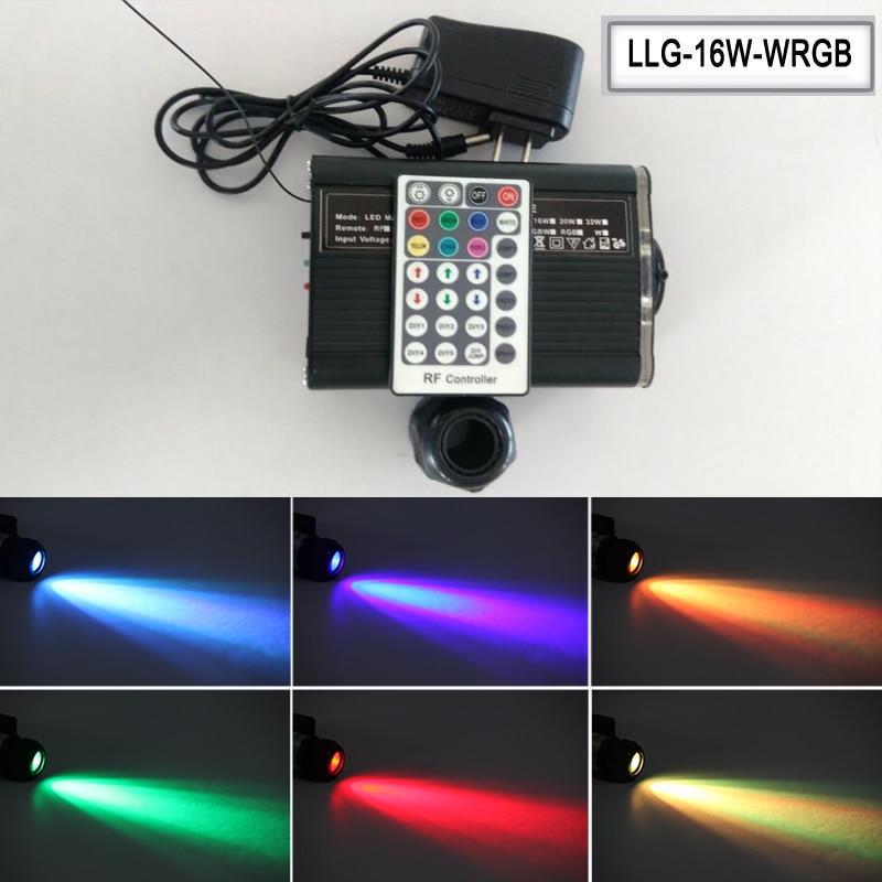 RGBW 16W LED light engine for star fiber optic light kits with 28key RF remote control AC100-240V input ...