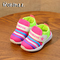 2017 kids shoes girl niños niños sneakers shoes de malla transpirable deportes de colchón de aire de color fluorescente niños zapatillas bebé shoes
