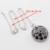 Encantos Rodada Cor Prata Mulheres Colar Pingente Brincos Anéis Conjuntos de Jóias Sapphire Black Criado Pulseira de Presente de Natal