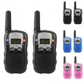 New T-388 Dual 1Pair 3 Colors Adjustable Mini Portable  Walkie Talkie AUtomatic Squelch F1935 T15 0.4