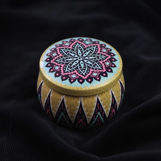 Caja de regalo de boda redondo estilo étnico de la lata de caramelo pastel de Chocolate vela caja de regalo de cumpleaños fiesta bebé ducha regalo de Navidad caja