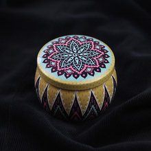 Wedding Gift Box Round Ethnic Style Tin Can Candy Cake Chocolate Candle Gift Box Birthday Party Baby Shower Christmas Gift Box(China)
