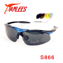Panlees Fashion Nigh Vision With RX Optical Polarized Lens Sun Glasses Men Outdoor Sport 5 Interchangeable Lens Free Shipping