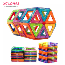 50 pcs Tamanho Pequeno Modelo Blocos de Construção Magnético Blocos de Construção Magnético Crianças DIY Brinquedos Educativos Crianças Presente de Aniversário