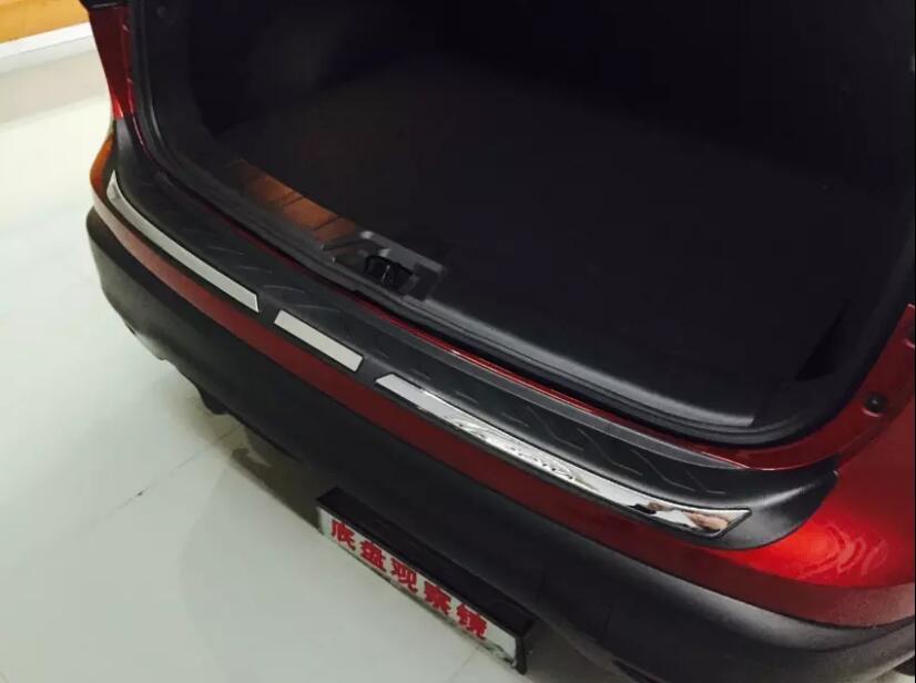 Pour Nissan Qashqai 2016 1 PC plastique coffre de voiture extérieur arrière boîte de queue pare-chocs plaque de pédale panneau capots de bordure moulures accessoires
