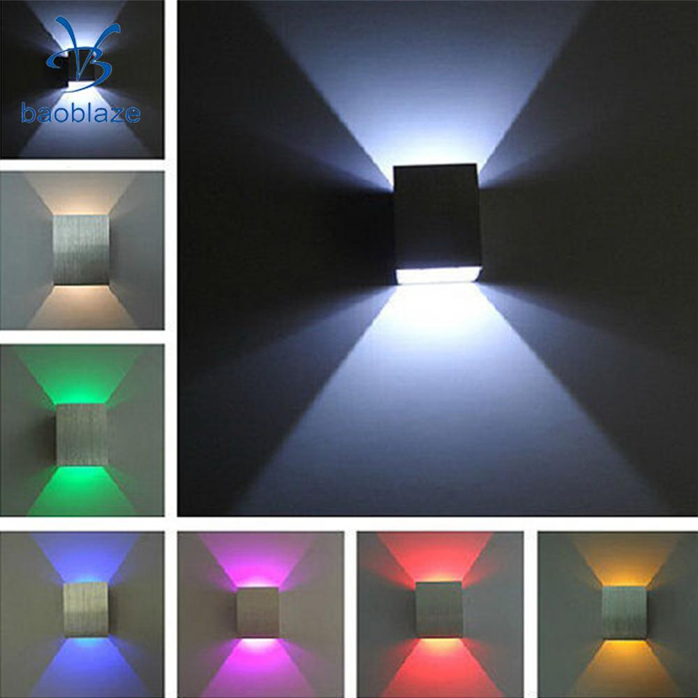 Baoblaze Beautiful Modern LED Square Wall Lamp Hall Porch Living Room Light for Study Room Hotel KTV Music Bars Decor 5 Colors