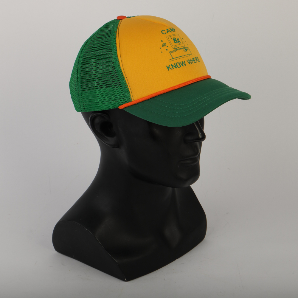 2019 Strange Things Dustin Hat Retro Mesh Trucker Cap Yellow Green 85 Know Where Adjustable Cap Gifts Halloween (5)