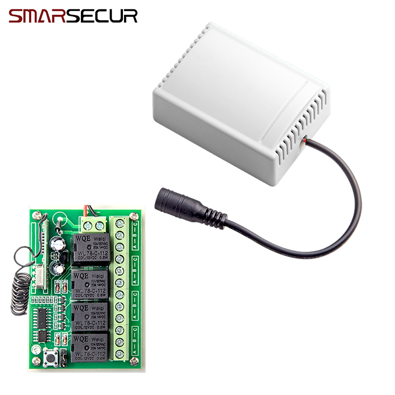 Wireless Remote Control Smart 4CH Wireless Relay Output for G90B G90B plus S2G S2W S1 G90E