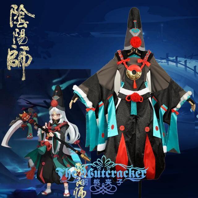 Jeu Onmyoji Shikigami Kimono Costume Cosplay manteau + pantalon + chapeau + gants