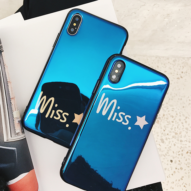 Blue Light Ray Cartoon Space Moons Planet Stars Phone Cases for iPhone 7 8 6 6s Plus X 10 Silicone IMD Cover Blu-Ray accessories