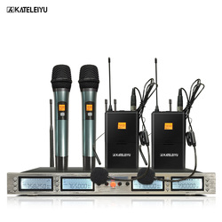 Professional Microphone 200-channel optional 4-channel dual hand-held dual-clip wireless microphone system