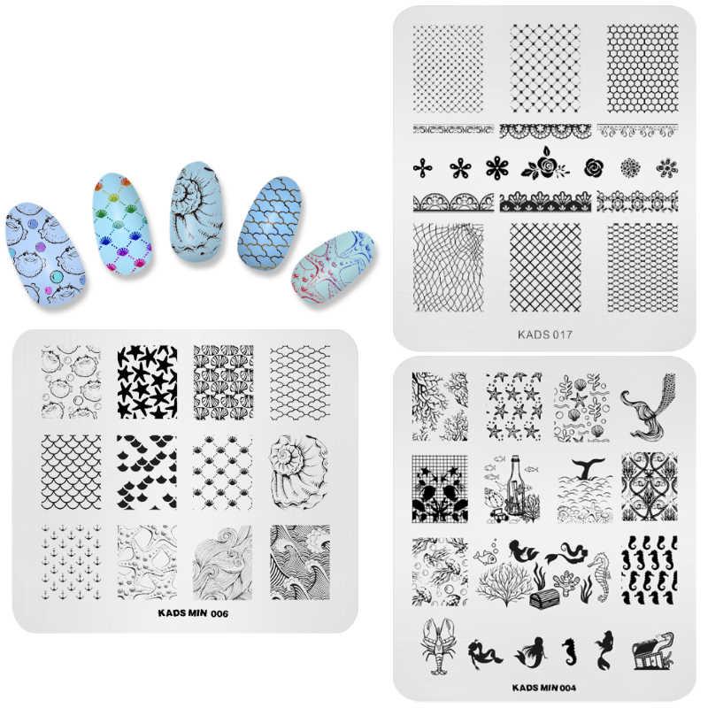 Arieslibra Set 10 3 Pcs Bunga Stamping Pencetakan Nail Art Template Uv Gel Gambar Cap Bahasa Polandia Kuku Stensil Manikur Stamper