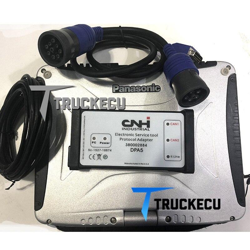 CF19 laptop + CNH est New Holland dpa5 CNH Ferramenta Electronic Service V9.0 CASO STRYR Agricultura construção Caminhão de diagnóstico kit