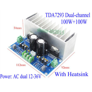 Image 5 - AIYIMA TDA7293 Audio Amplifier Board 100W*2 Digital Stereo Power Amplifier Board With Heatsink Dual AC12 32V