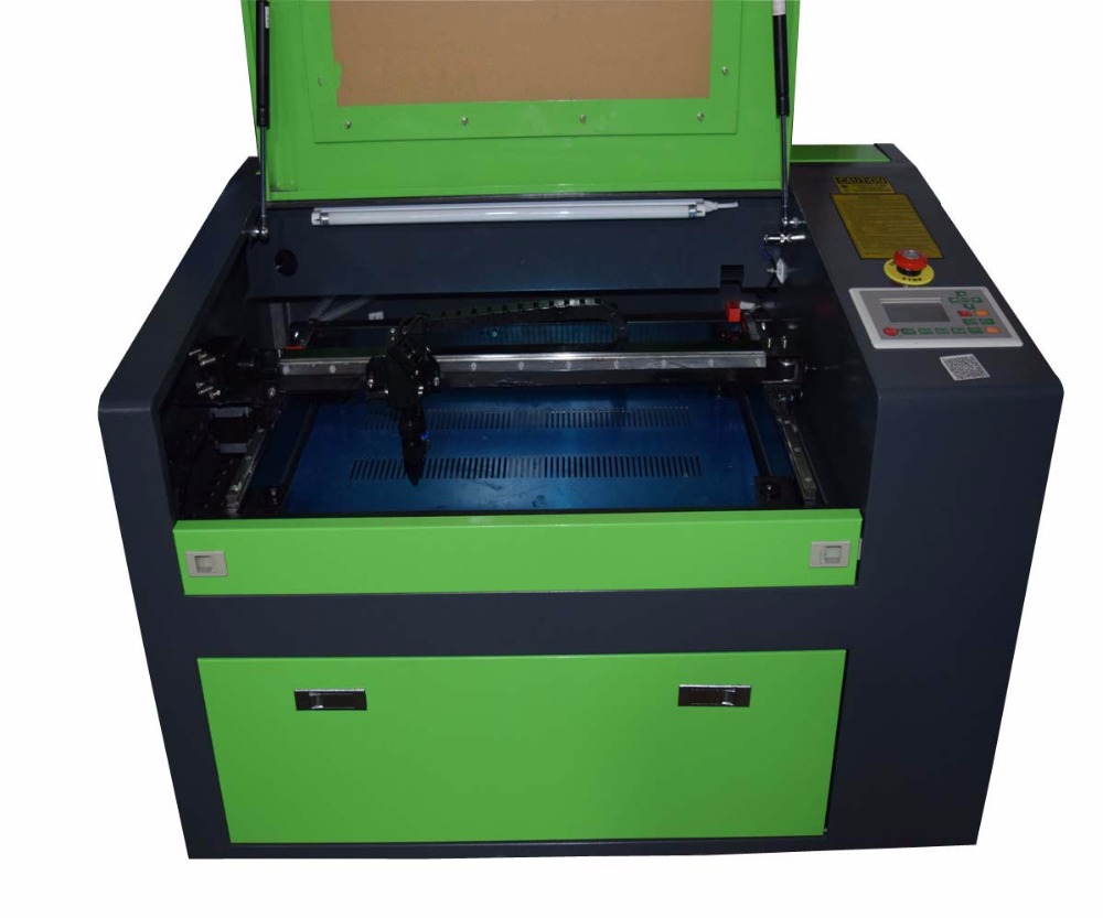 50W CO2 USB Laser Engraving Cutting Machine 500x300mm Engraver Cutter Wood working Crafts Printer Cutter