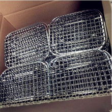 2018 New 304 stainless steel bbq food special travel picnic bbq with leg Customized Square shape grill accessories