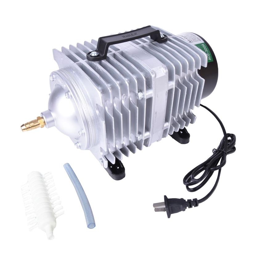 ФОТО ACO-300A 250L/min air compressor 220VAC pond aerator aquacuture bubble for a Koi aquarium fish table Aquarium air compressor