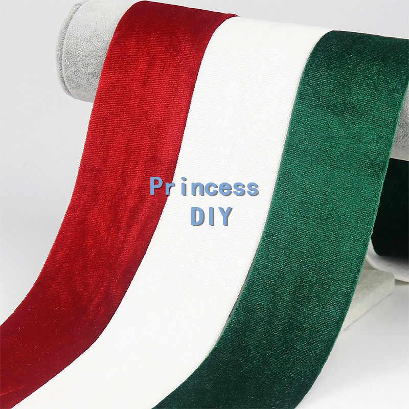 5 מטרים\חבילה 13 30 50mm מוצק צבע סתיו חורף ורוד קטיפה סרט קטיפה בד בד שכבות DIY שיער קשת קישוט חומר