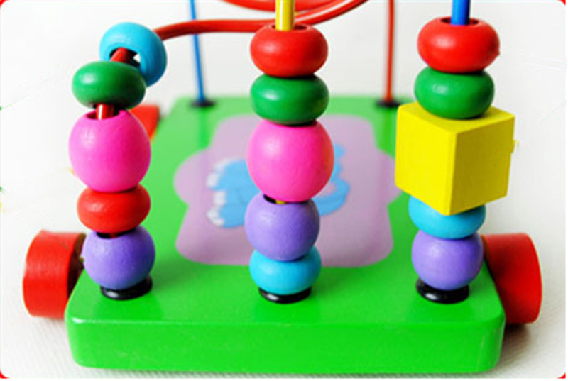 Baby Kids Mini Around Beads Maze Roller Early Education Toy Intelligence Developing Games Labyrinth Toys Gift