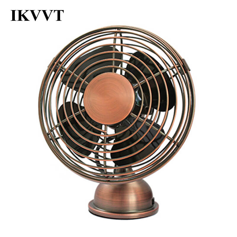 Sraintech USB Mini Table Fan Antique Fan Small Portable Table Fan with Switch Angle Adjustable Nordic Decorative Fan for Home original xiaomi portable usb mini fan