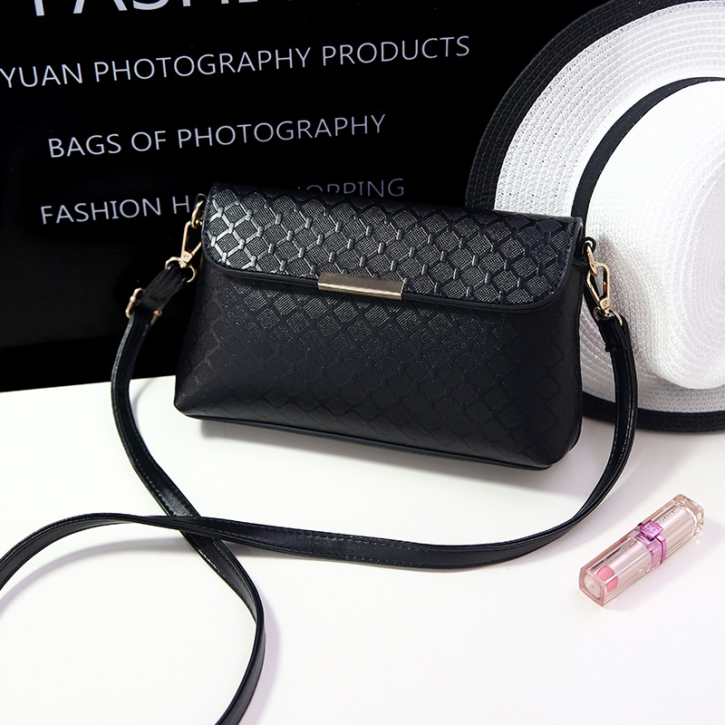 2017 Black Luxury Women Shoulder Bags Female Party Crossbody Strap Bag Plaid Handbag Quilted Femme Women PU Leather Handbags