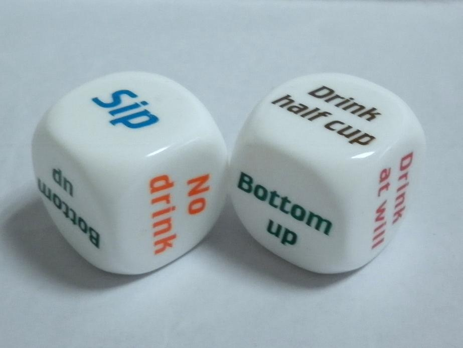 birthday drinks - Drinking Dice Game For Parties, Birthday Drinks, Clubs & Other Fun Nights Out