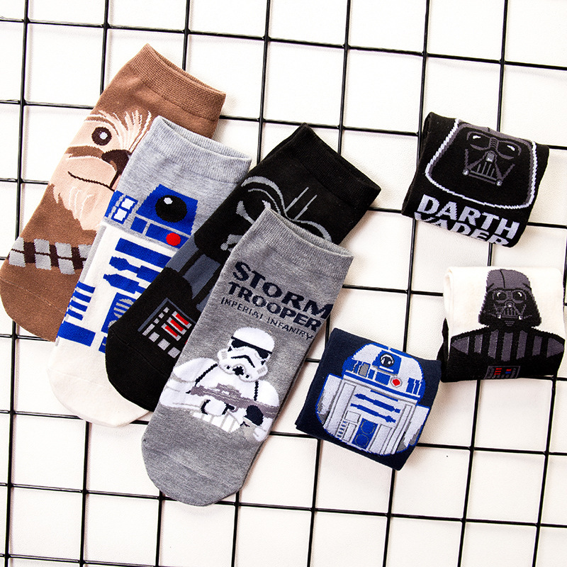 Star Wars Men's   socks   harajuku cotton funny short   socks   unisex male casual spring summer   sock   man sox meias dropshipping 2019