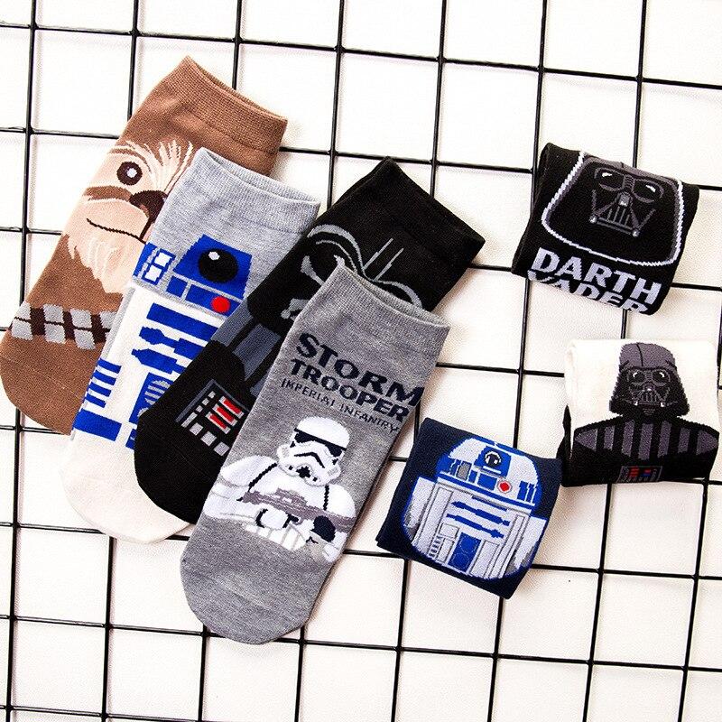 Star Wars Men's Socks Harajuku Cotton Funny Short Socks Unisex Male Casual Spring Summer Sock Man Sox Meias Dropshipping 2019