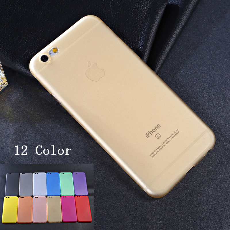 Wangcangli 2pcs Matte Soft Silicon Case for iPhone 6 Cases 6s Candy Colors Full Cover PC Protective on for iPhone 7 Case Phone