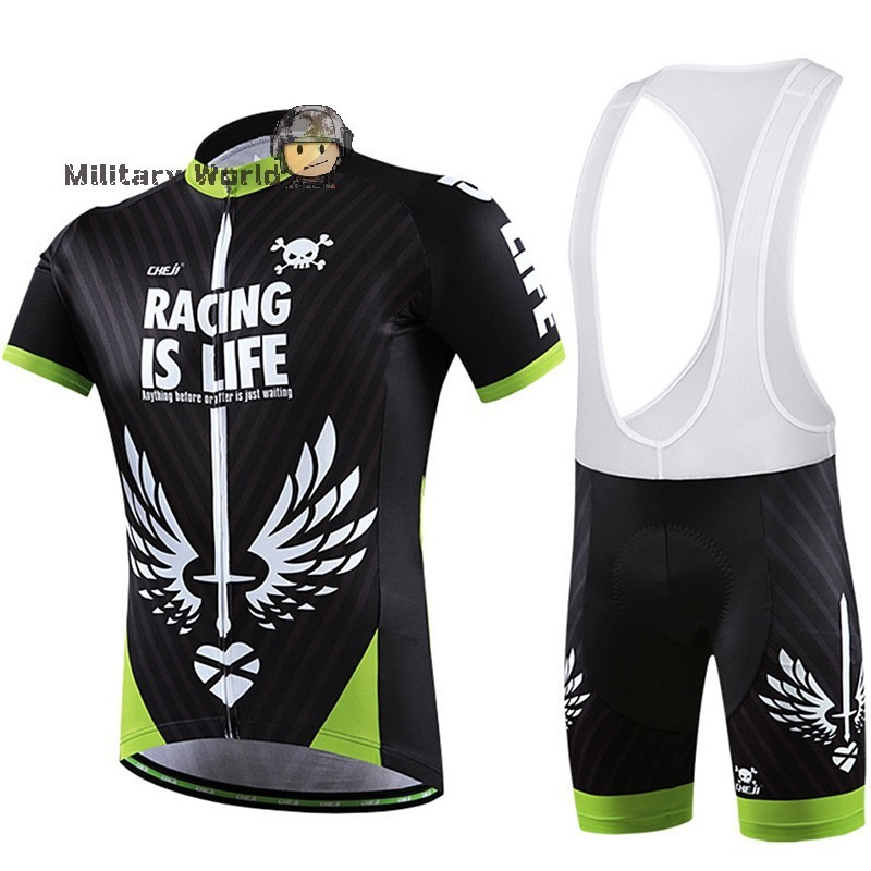 ФОТО Cycling Jersey Bicycle Shirt Black-Green Cycle Gear Riding Clothes Waterproof Warm Coat Full Zipper Autumn Winter Riding Clothes