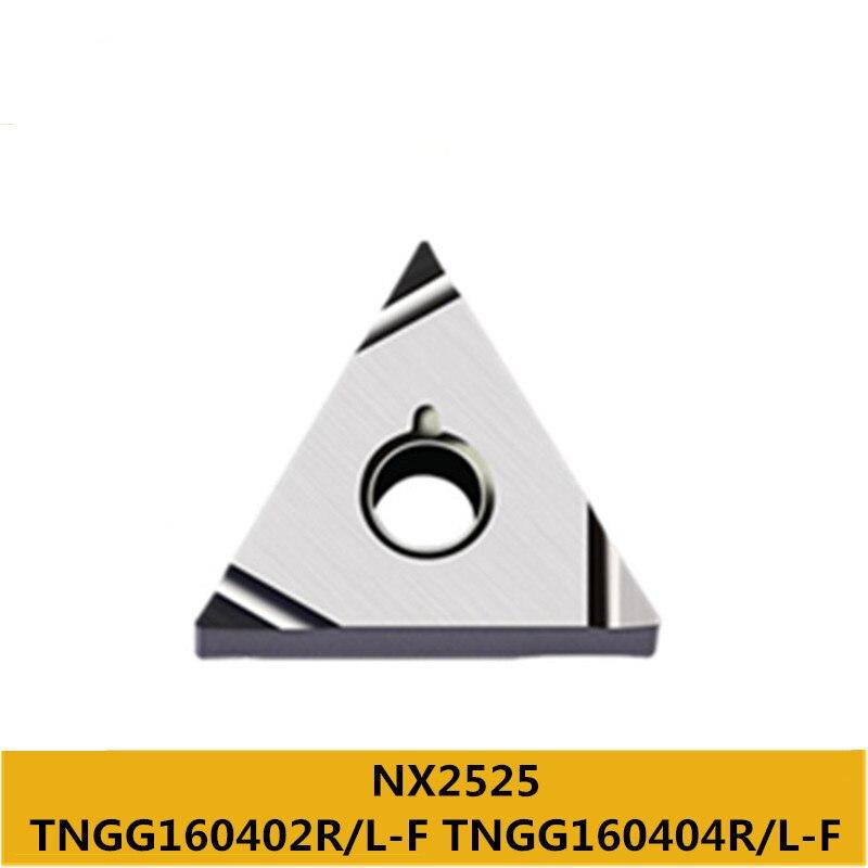 Tnmg Tngg Tngg160404r Tngg160402l Tngg160402l-f Nx2525 Cnc Cermet Grau Carboneto Inserções Usar Mtjnl Mtjnr Tnmg1604 Tngg160402r –
