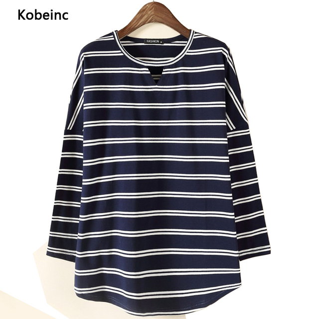 Hollow Striped Maternity T Shirt Fashion O-Neck Batwing long Sleeve Tops For Pregnant Women 2017 Spring Irregular Pregnancy Tees