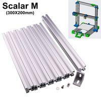 3D impresora sistema modular escalar M t-ranura extrusión de perfiles de aluminio metal Marcos con soporte tornillo tuerca