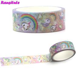 Ransitte R366 Радуга лошадь Васи клейкие ленты ручной DIY цвет декоративная бумажная лента ручка стикер студенческие принадлежности