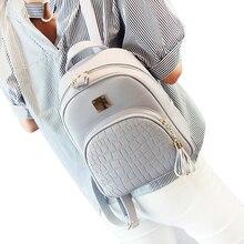 حقائب ظهر مدرسية للنساء من الجلد للفتيات المراهقات حقيبة صغيرة مرصعة بحجر ترتر للإناث على طراز preppy