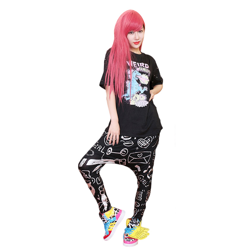 Free Shipping 2016 Street Dance Wear Casual Fashion Big Drop Crotch Pants Hip Hop Women Loose