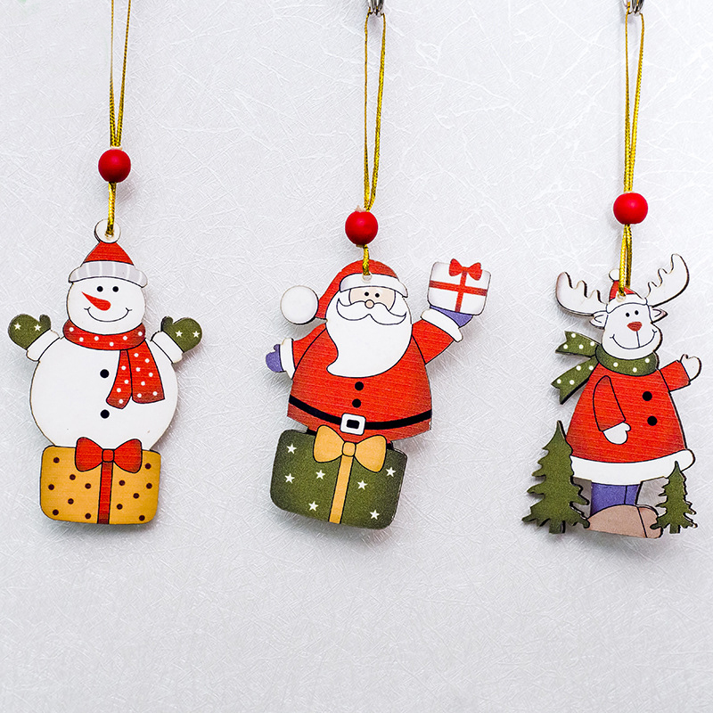Christmas Tree Decorations Creative Painted Wooden Sign Ornaments For Home  Navidad 2018