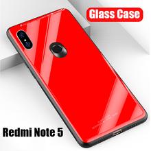 Redmi Note 5 Case Luxury Glossy Tempered Glass Silicone Hard Cover Case Xiaomi Redmi Note 5 Pro Note 5 Redmi 5A Note 6 Pro Mi 8