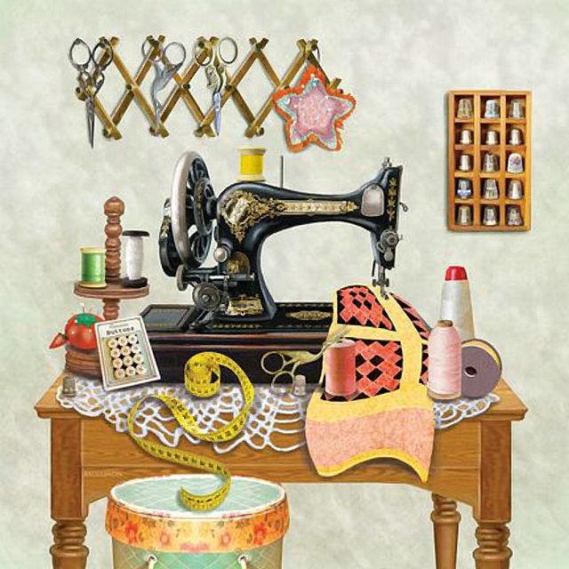 Diy diamond embroidery sewing machine icon