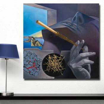 Oil Painting Dali Smoker Pierrot and Columbine Blue Sky For Home Decor On Canvas Modern Wall Art Canvas Print Canvas Painting 2
