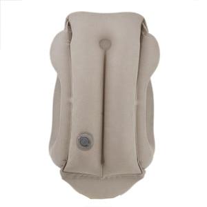 Image 4 - Almohada de viaje almohadas inflables Cojín de aire suave viaje productos innovadores portátiles soporte para la espalda almohada plegable cuello soplado