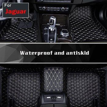 Faux Leather Auto Floor Pads Luxury Foot Mats Faux Leather For Jaguar F-pace Xj Xjl Xf Xe F-type Xk Xfl Xel