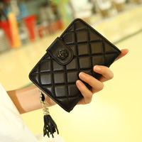 Famous Brand Fashion Genuine Leather Women Short Small Wallet Womens Business Mini Coin Purse Lady Money