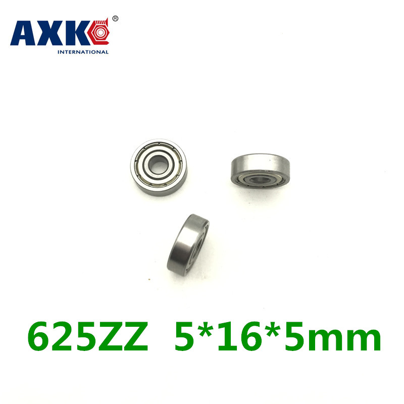 10Pcs 625ZZ Mini Metal Double Shielded Flanged Ball Bearing For 3D Printer Parts-PC Friend  625ZZ 5*16*5 Mm