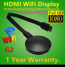 New HDMI 1080P wifi display dongle G2 Anycast CPU RK3036 dual-core H.265 Adapter for IOS7/8/9 Android Window 7/8/10/Mac OS x10.8(Hong Kong,China)