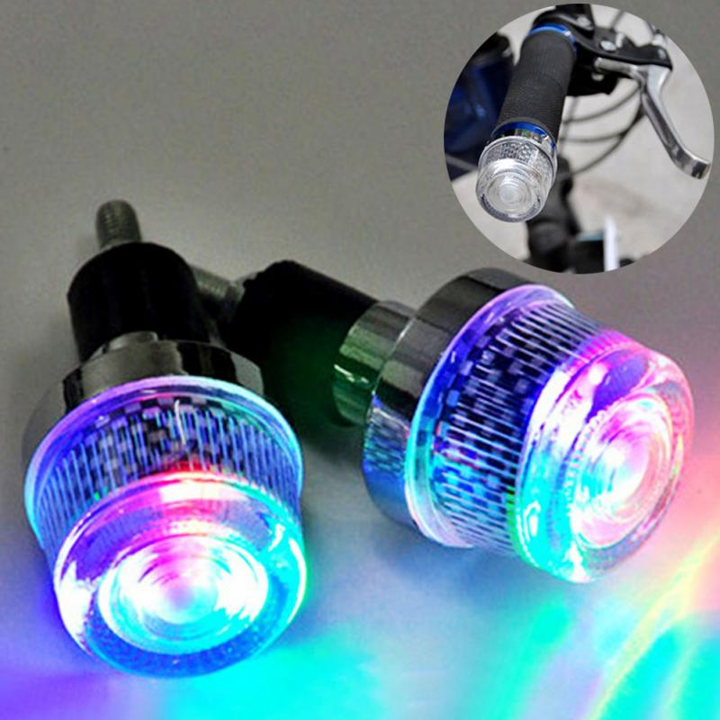 New super cool bicycle handlebar grip plug led light riding cycling warning flashlight turning lamp bike headlamp grips light in bicycle light from sports