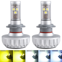 ISincer 2PCS DIY 5 Colors Led H4 H7 Car Headlight Bulbs Kit Led Lamp H11 9005