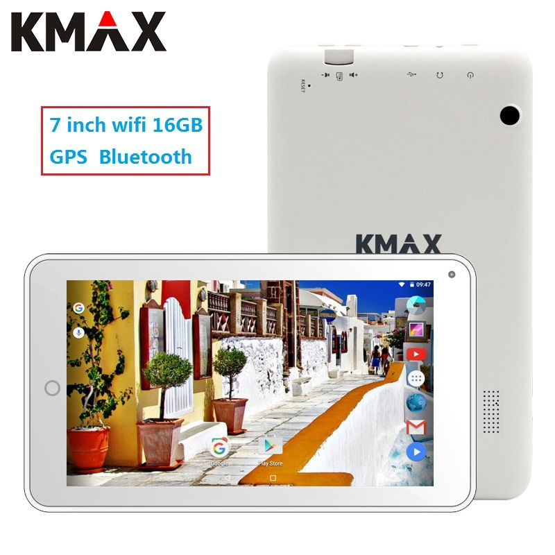 KMAX 7 inch wifi tablet pc android 7.0 Quad Core Dual Cameras 1GB 16GB ROM GPS bluetooth cheap mini tablets pc kids 8 9 10 pad teclast p89s mini 7 9 ips android 4 2 2 dual core tablet pc w 1gb ram 16gb rom white